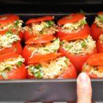 Запеченные помидоры с сыром